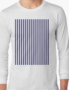 USA Flag Blue and White Stripes Long Sleeve T-Shirt