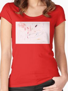 Willow Watched at the Back Fence Women's Fitted Scoop T-Shirt