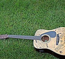 Acoustic Guitar in Grass #1 by Craig DeRuyter