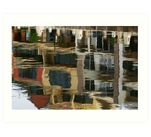 Patterns on water Art Print