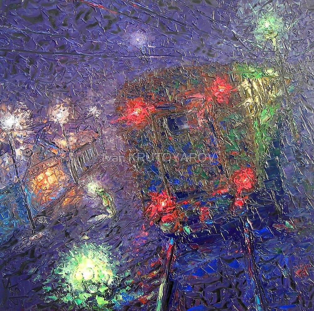 Night Express / 2010 / oil on glass by Ivan KRUTOYAROV