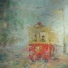 Tram From Childhood  / 1988 / oil on cardboard by Ivan KRUTOYAROV