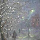 Forgotten Winter  / 1987 / oil on cardboard by Ivan KRUTOYAROV