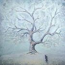 Just The Winter Has Come... / 1987 / oil on cardboard by Ivan KRUTOYAROV