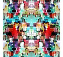 Colorful Abstract square pattern Photographic Print
