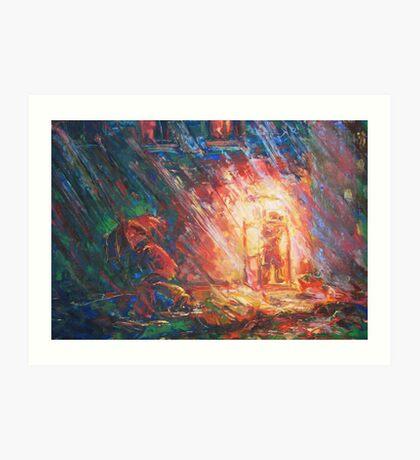 Telephone-Island  / 1988 / oil, pencil on paper Art Print