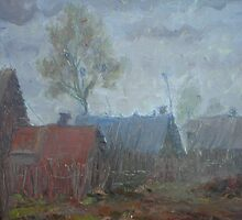 Cloudy Sketch  / 1988 / oil on cardboard by Ivan KRUTOYAROV