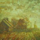 Before Storm. Sketch  / 1988 / oil on cardboard by Ivan KRUTOYAROV