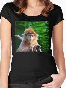 GUESS WHO WON THE STARING CONTEST? Women's Fitted Scoop T-Shirt