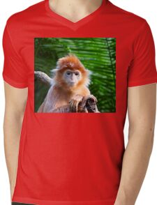 GUESS WHO WON THE STARING CONTEST? Mens V-Neck T-Shirt