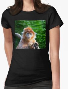 GUESS WHO WON THE STARING CONTEST? Womens Fitted T-Shirt