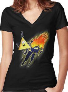 Meet my friends! Women's Fitted V-Neck T-Shirt