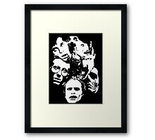 Zombie Icons Framed Print