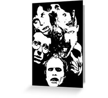 Zombie Icons Greeting Card