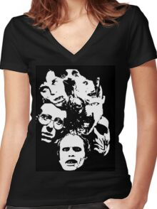 Zombie Icons Women's Fitted V-Neck T-Shirt
