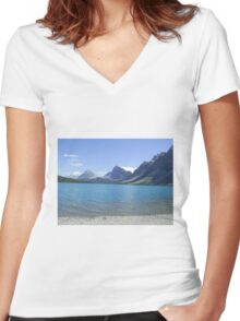 Banff, Alberta, Canada Women's Fitted V-Neck T-Shirt