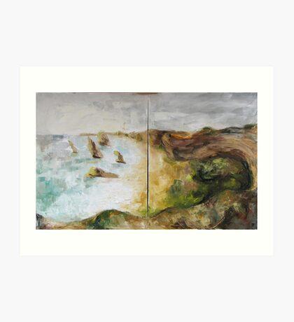 Grate Ocean Road - in winter weather Art Print