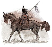 hun horseman brown by David  Kennett