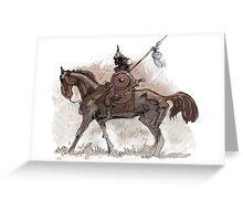 hun horseman brown Greeting Card
