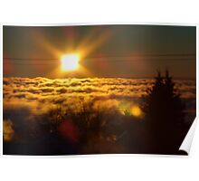 Nature hideing the Great Lake Superior Poster