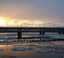Sunset on a winters day. My beautiful city. by Kevin  Carlin