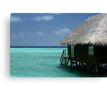 Water Villa - Veligandu, The Maldives Canvas Print