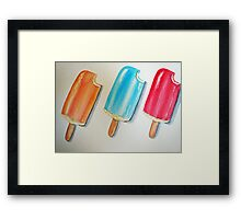 Popsicle Toes Framed Print