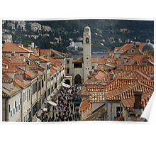 Dubrovnik from on high Poster