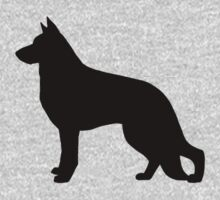 German Shepherd Dog Silhouette Baby Tee