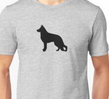 German Shepherd Dog Silhouette Unisex T-Shirt
