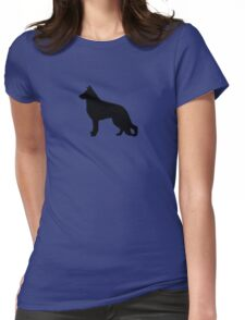 German Shepherd Dog Silhouette(s) Womens Fitted T-Shirt
