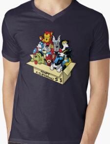 Adopt a Superdog Mens V-Neck T-Shirt