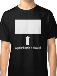 A polar bear in a blizzard Classic T-Shirt
