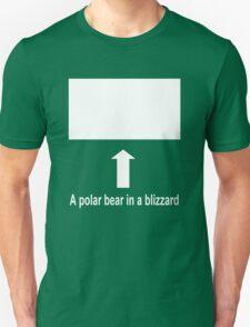 A polar bear in a blizzard Unisex T-Shirt
