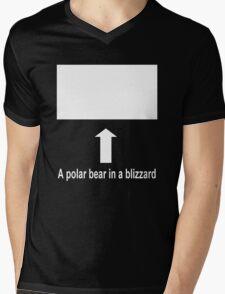 A polar bear in a blizzard Mens V-Neck T-Shirt