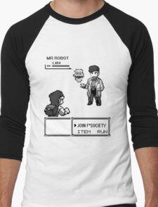 mr robot - pkm Men's Baseball ¾ T-Shirt
