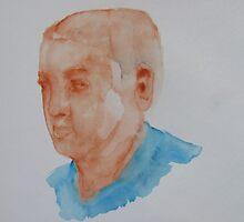 watercolor people - one by carol selchert