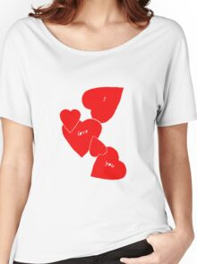 I Love You (red hearts) Women's Relaxed Fit T-Shirt