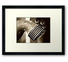 Bubbly Tap Framed Print