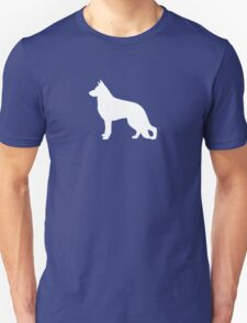 White German Shepherd Dog Silhouette T-Shirt