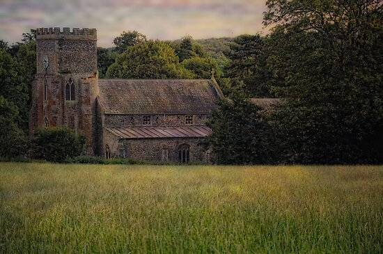 Rural Church by Karen  Betts