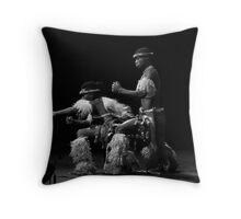 Memeza Zulu Dancers Throw Pillow