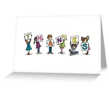 Card Design: Kids: Thanks Greeting Card