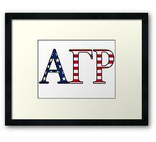 Alpha Gamma Rho America Framed Print