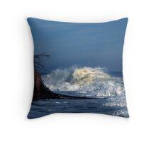 Surf in the Gulf Throw Pillow
