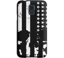 American Flag Skull (black and white) Samsung Galaxy Case/Skin