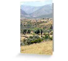 Naxos Demetrius Temple Lanscape Greeting Card
