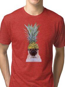 Pug Pineapple Tri-blend T-Shirt