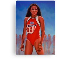 Florence Griffith - Joyner painting Canvas Print