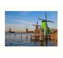 Windmills in Zaanse Schans Art Print